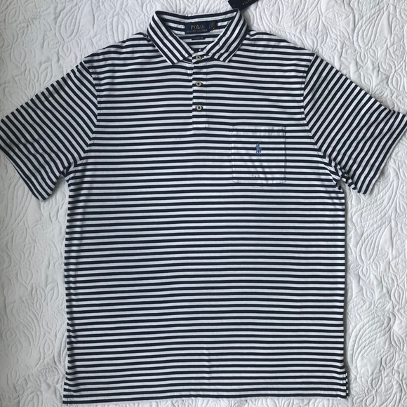 95be4f6c295e Mens Large Polo Ralph Lauren Polo Shirt Stripes. NWT